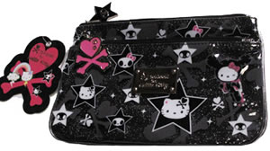 tokidoki for hello kitty flat cosmetic pouch