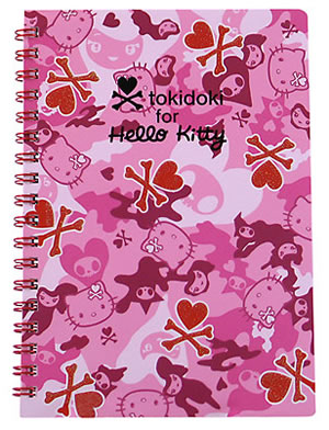 tokidoki for hello kitty pink notebook