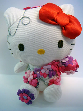 hello kitty flower doll front
