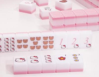 hello kitty mahjong set