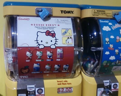 hello kitty vending machine