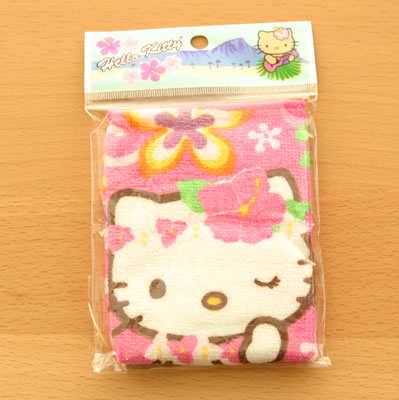 hello kitty hawaii towel in bag
