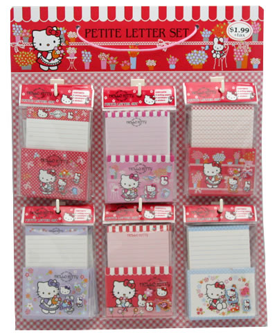 hello kitty product display - letter sets