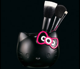 hello kitty mac cosmetics brush set