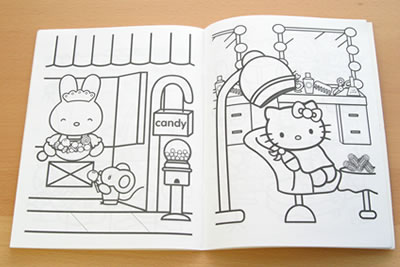 hello kitty sticker book page