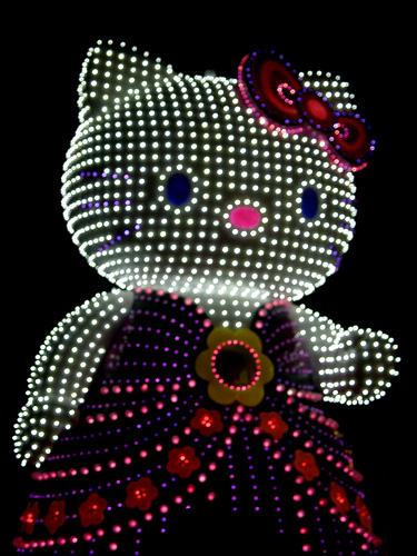 hello kitty in lights