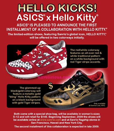 asics hello kitty collaboration