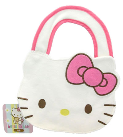 hello kitty baby bear die cut bib