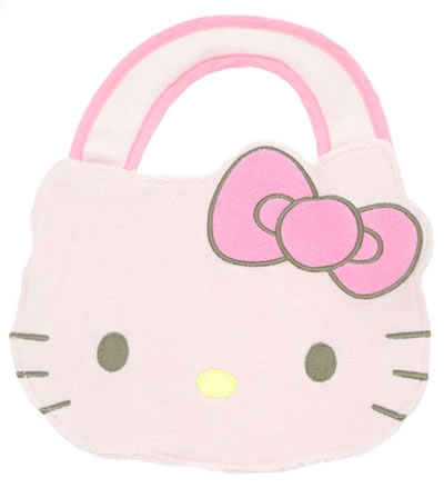 hello kitty baby bear die cut bib pink