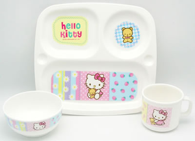 hello kitty baby bear dishware set