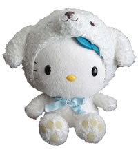hello kitty dog plush
