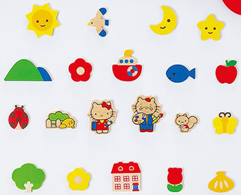 hello kitty easel magnets