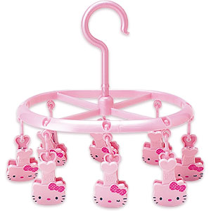 hello kitty laundry hanger