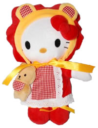 Hello Kitty Lovely Kitty with Bear Plush