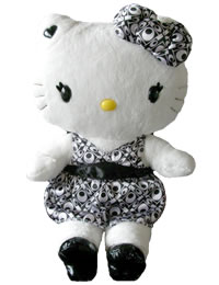 Hello Kitty Momoberry Black Dress Plush