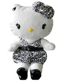 Hello Kitty Momoberry Black Dress Plush