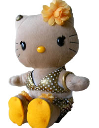 Hello Kitty Momoberry Gold Bikini Plush