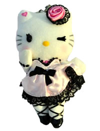 Hello Kitty Momoberry Pink Dress Plush