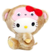 hello kitty monkey plush