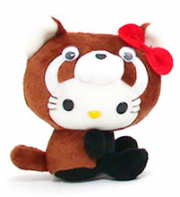 hello kitty raccoon plush