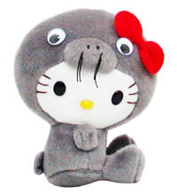 hello kitty seal plush