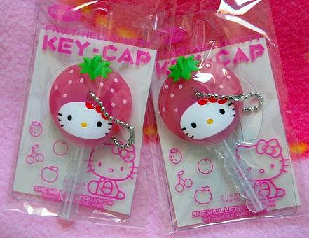 hello kitty strawberry key cap