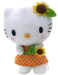 Hello Kitty Sunflower Plush