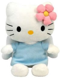 hello kitty beanie baby blue angel