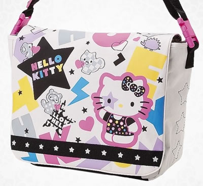 hello kitty back to school messenger bag star