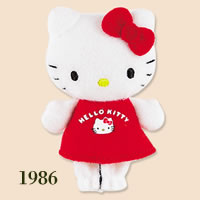 hello kitty finger puppet 1986