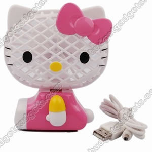 hello kitty USB fan front