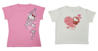 hello kitty x hard rock cafe t-shirts
