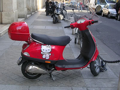red hello kitty scooter