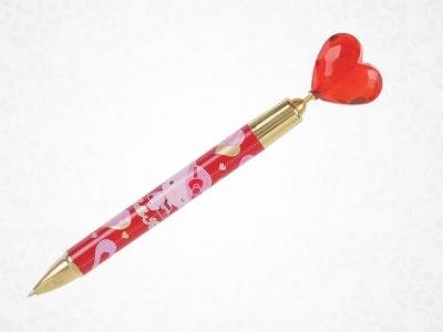 hello kitty heart ballpoint pen