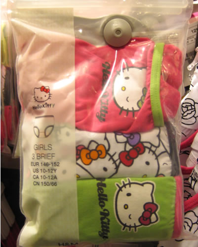 hello kitty underwear briefs at H&M