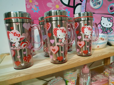 smileys hello kitty mugs