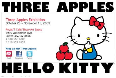 three apples hello kitty exhibition