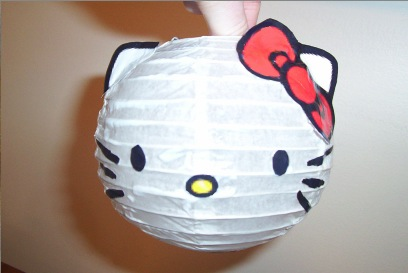 hello kitty lantern craft