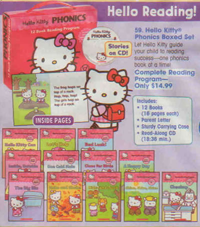 hello kitty phonics books