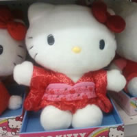 hello kitty doll in kimono