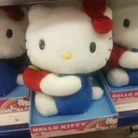 hello kitty with apple doll