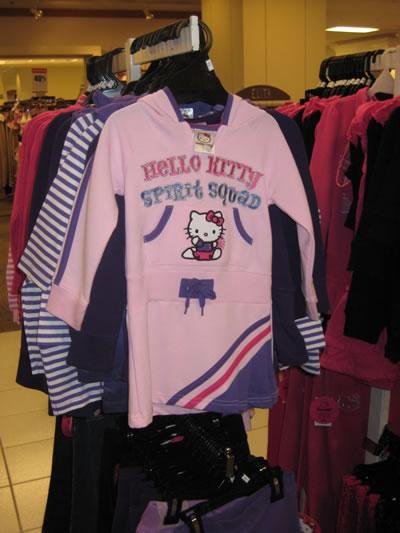hudson's bay - hello kitty cheerleader shirt