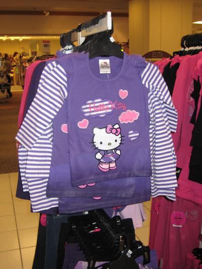 hudson's bay - hello kitty long sleeve shirt