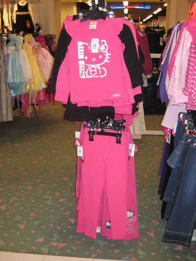 hudson's bay - hello kitty pink outfit