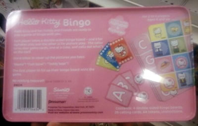hello kitty bingo bottom