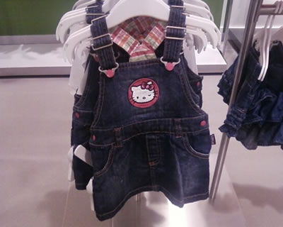hello kitty h&m jean dress