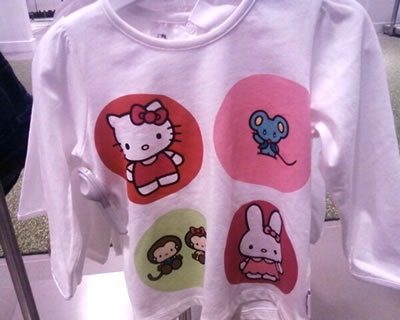 hello kitty h&m long sleeve shirt