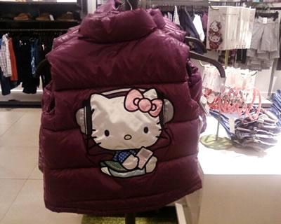 hello kitty H&M puffer jacket back