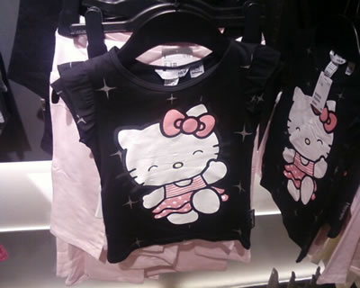 hello kitty h&m starry t-shirt