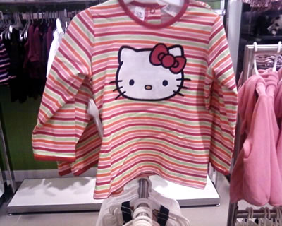 hello kitty h&m striped shirt